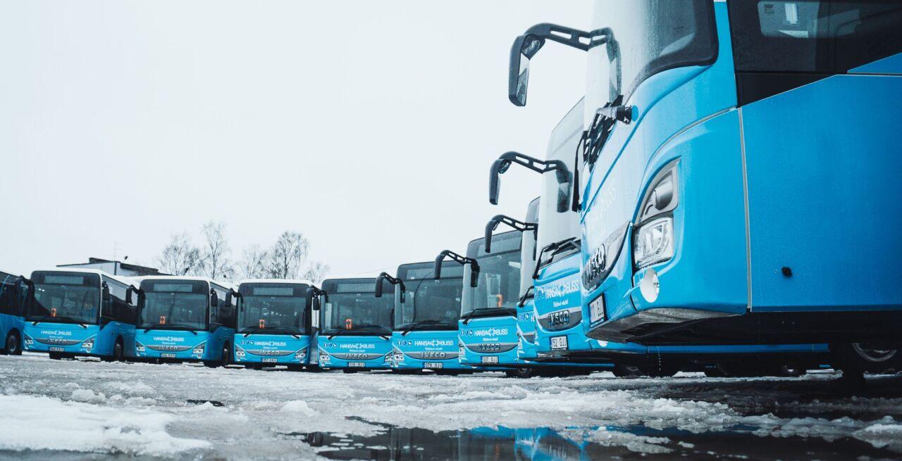 Hansabuss saadab uued bussid liinile, lisandub 253 väljumist ja 10 000 kilomeetrit päevas